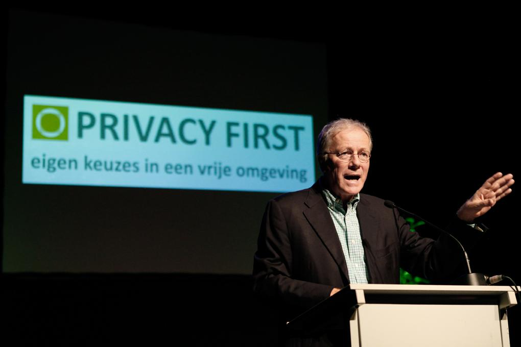 Toespraak Jacob Kohnstamm bij Privacy First, 16 januari 2014. Foto: Maarten Tromp