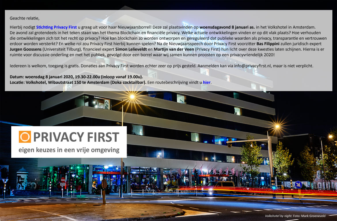 uitnodiging PrivacyFirst 8jan2020