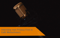 Interview met directeur Privacy First in Café Weltschmerz